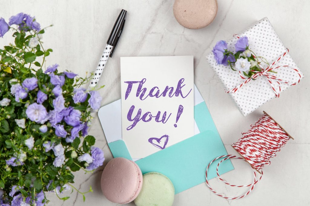 random thank you notes to instill gratitude